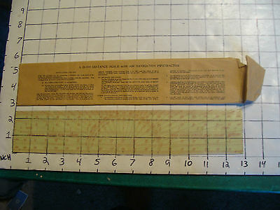 D-500 Distance scale w AIR NAVIGATION PROTRACTOR in instruction paper sleeve