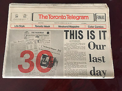 The Toronto Telegram Final Issue Oct 30, 1971