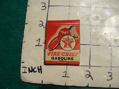 vintage Matches 1930's or 40's:  TEXACO FIRE CHIEF GASOLINE, claremont NH used