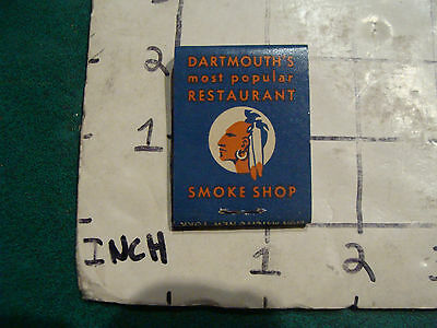 vintage Matches 1930's or 40's: COLLEGE INN Hanover NH, restaurant & smoke shop