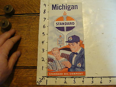 vintage Paper--1959 michigan standard map clean