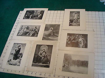 vintage Christain prints, B&W, 8 items, undated.