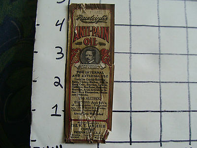 Original Medicine label: EARLY--ANTI-PAIN OIL w.t. rawleigh co. FREEPORT ILL.