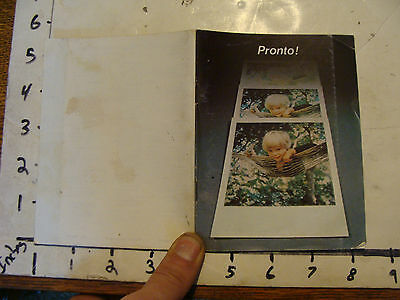 PRONTO from Polaroid, instruction book, 59 pages.