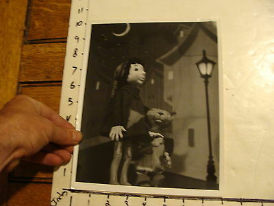 Vintage Puppet Marionette  Photo: DRAGON MARIONETTES  boy and cat