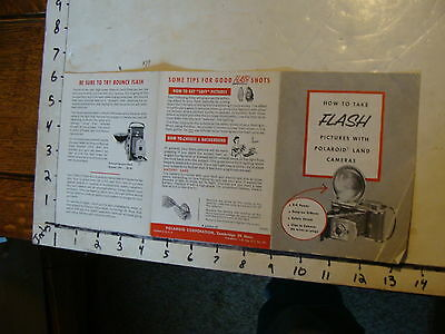 vintage Paper--how to take FLASH pictures with Polaroid land cameras
