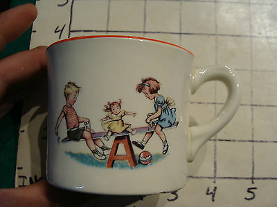 Original Vintage Childs cup/mug: DICK & JANE congrats Atherton Furnitur co. chip