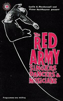 Glasgow Empire Theatre, 1963, The Red Army Singers, Dancers And Musicians.14Page