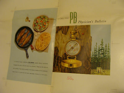 "Vintage Printing Sample Poster: PHYSICIANS BULLETIN, JULY 1954, 31X20""; #5844"