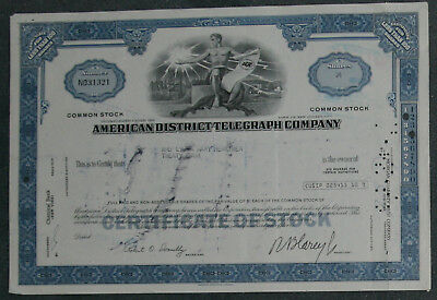 American District Telegraph Company 1972  24 Shares .
