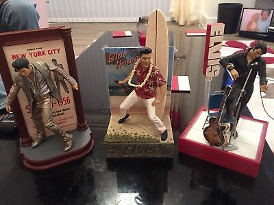 Mc,FARLANE TOYS ELVIS FIGURES  X 3 IN GOOD Condition With Acc,s
