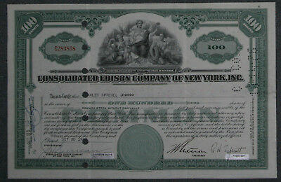 Consolidated Edison Company of New York, Inc. 1948 100 Shares .