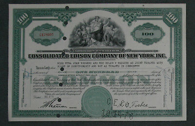 Consolidated Edison Company of New York, Inc. 1957 100 Shares .