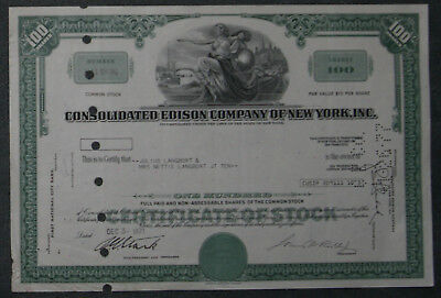 Consolidated Edison Company of New York, Inc. 1971 100 Shares .
