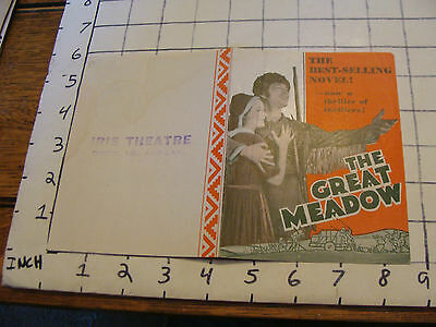Original MOVIE paper: 1931 THE GREAT MEADOW iris theatre MGM