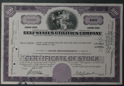 Gulf States Utilities Company 1965 100 Shares .