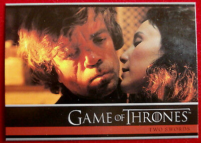GAME OF THRONES - Season 4 - Card #01- TWO SWORDS A - Rittenhouse 2015