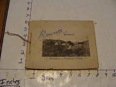 Vintage Travel Paper--PLYMOUTH VERMONT birthplace of President Coolidge booklet