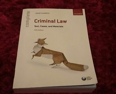 Complete Criminal Law, 5th edition Oxford, Janet Loveless