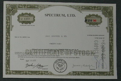 Spectrum, Ltd. 1968  25 Shares .