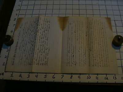 1862 paper: WARRANTY DEED FOR BRIGGS FAMILY PROPERTY Rutland County Vermont
