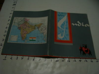 Travel paper: ABOUT INDIA, INFORMATION SERVICE OF INDIA, WASHINTON D.C. 1956