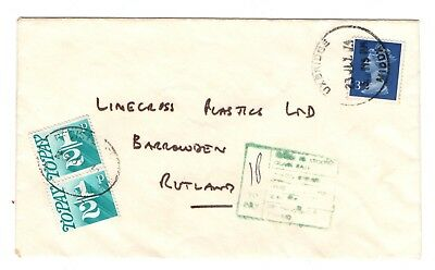1974 letter with two 1/2p postage dues