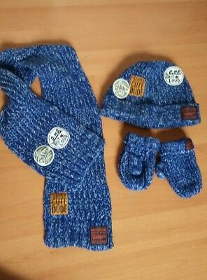 Next boys winter hat scarf gloves set 1-2 years