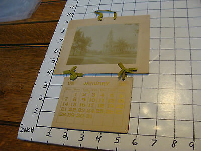 Vintage Paper: 1900 CALENDAR with Church photo, no town name though  Complete