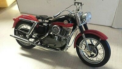 Franklin Mint 1957 Harley Davidson Xl Sportster, 1:10, diecast motorcycle, red,
