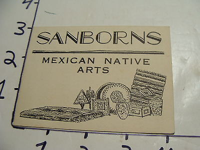 Vintage Travel Paper: 1930's SANBORNS Mexican Native Arts
