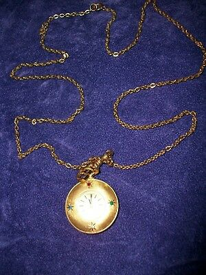 Vintage Rotary Ladies Pendant Watch On Gold Tone Chain