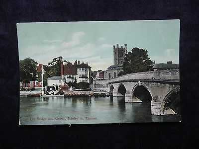Old Misch & Co's. Postcard of The Bridge and Church, Henley on Thames