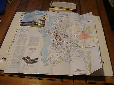 Vintage Travel Paper--CHITTENDEN COUNTY STREET MAP, CLEAN