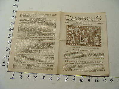 Vintage Travel Paper: june 4 1939 EVANGELIO Mexico paper