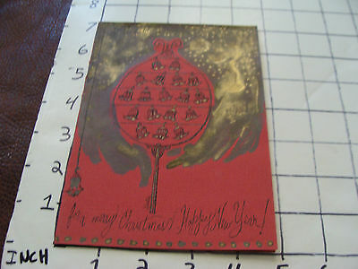 Vintage Hand Made UNUSED Card: LET THERE BE MUSIC signed XERTIA