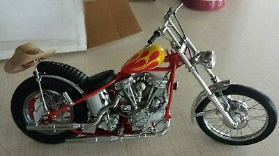 Franklin Mint Harley Davidson motorcycle, Easy Rider, Billy Bike, 1:10, diecast