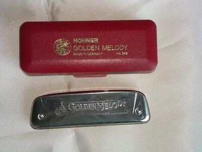 USED Harmonica, Hohner, Golden Melody No 542, Key A Classic Harp!