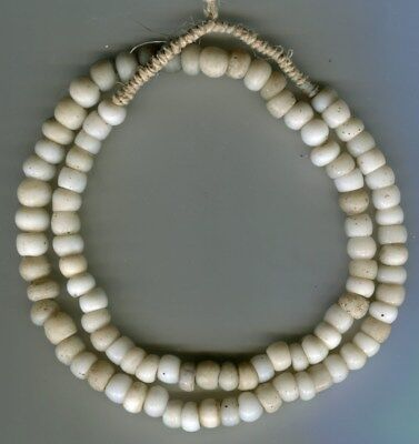 African Trade beads Vintage European glass beads Old white padre beads