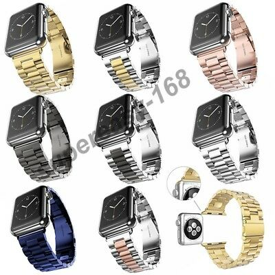 Replacement Stainless Series 1 2 3 Strap Band Clasp Apple Watch 38/42mm iWatch