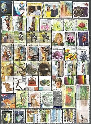 55 x Australian stamps - good to fine used