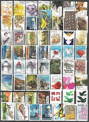 56 x Australian stamps - good to fine used