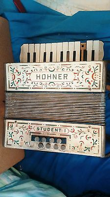 Hohner Student 1 vintage retro collectables piano keyboard music Accordion RARE