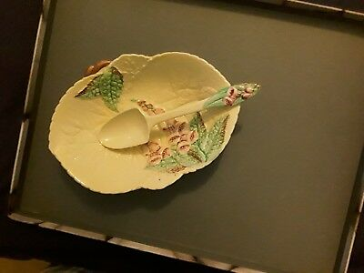 Carlton Ware hand painted dish flower design