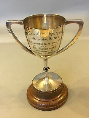 Paddington Postal Sports Club  Swimming Trophy 1922 Cambridge Challenge Cup