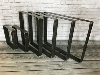 Industrial steel metal dining table or bench legs from 30mm x 50mm section