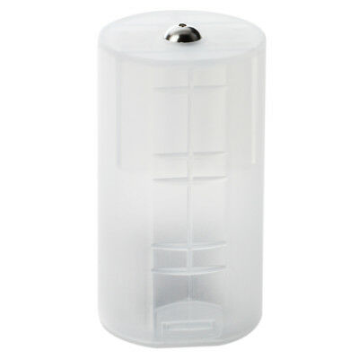 8 x AA to D Size Battery Adapter White Case PK A3Z3