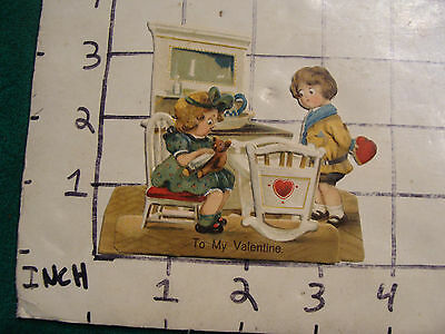 vintage paper: early VALENTINE pop up made in Germany card, cool, 3d, stands