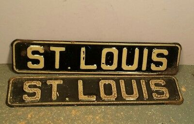 2 Original Metal Antique Vintage  Sign St. Louis , Scarce ,