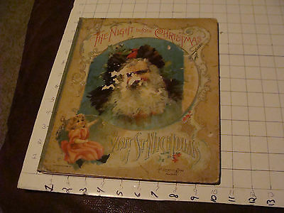 THE NIGHT BEFORE CHRISTMAS: 1896 McLoughlin FIRST EDITION, great Chromolithos